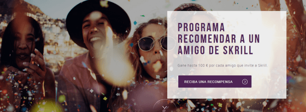 SKRILL programa de referidos